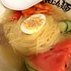 スタミナホルモン食堂 食樂 - 料理写真:よくばりセット(盛岡冷麺)