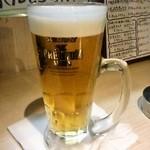 肉まる - 生ビール(480円)