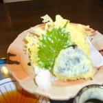 田舎や - 釜天の天ぷら