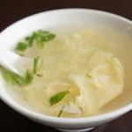 中国料理・珍 - 玉子の中華スープ、玉子たっぷり、ややとろみがあって美味しいです