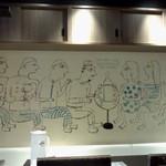 渋谷 KAIRI - 壁の絵がおもしろい