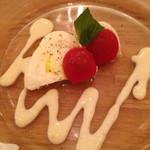 ビストロ釧路 - 酪恵舎のモッツァレラチーズ  コーンソース