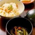銀座 串かつ凡 - さっぱりとした食感箸休めの茶そば・〆の炊き込みご飯