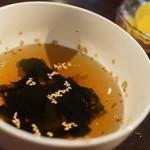 太田精肉店 - ワカメスープ