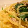 キッチンハウスえすかるご - 料理写真:鶏ひきにくとホウレン草のクリームpasta(生パスタ風)(アップ)