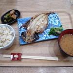 トンタン茶房 - アジの開き定食