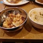 30088885 - ランチです。麻婆豆腐、チャーハンもいただけます。