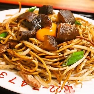 天龍 - 料理写真:しいたけやきそば