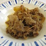 すき家 - 牛皿のアップ