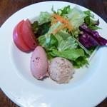 ビストロ ハムサ - 豚肉のリエットと鶏レバームースのサラダ仕立て