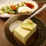 福太郎 - レディースセットのアボガド豆腐と生たこポン酢