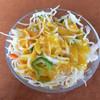 パミールマート - 料理写真:セット?のサラダ、ドレッシングはマンゴー風味。