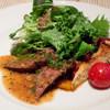 KITCHEN ぬまた - 料理写真:夜のメイン、肉は「牛肉のグリル」