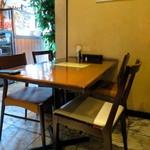 ピッツェリア パージナ - 店内は広めでテーブル席主体です