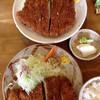 竹亭 - 料理写真:写真上、ダブルカツ1500円と写真下が上とんかつ1000円