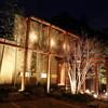 竹亭 - 外観写真:夜は竹林がライトアップされ幻想的な空間を演出しています。