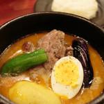 ダッチオーブン - 軟らかラムのスープカリー(¥1,280) 2014.07