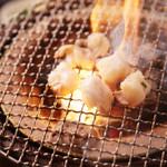 焼肉とワイン 李苑 - 焼肉は炭火が一番!