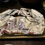 かげろう - 特製ハンバーグとキノコのホイル焼き もろ味噌ソース950円
