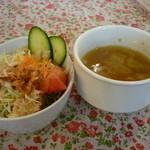 スワロウテイル - ☆サラダとスープ(#^.^#)☆
