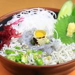 横須賀パーキングエリア(下り線) - 海鮮しらす丼