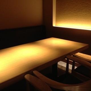 プライベートでゆったりお食事を楽しめる個室もご用意