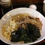 健康美食 健美 - 肉つけそば、バター醤油ダレ@新橋 けんび