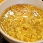チリレンゲ - 四川麻婆豆腐ランチ(スープ)