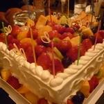 コカルド - ☆大きなバースデーケーキはフルーツ満載です(≧▽≦)/~♡☆