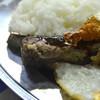 高良食堂 - 料理写真:Aランチ リブステーキが美味