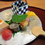 お料理 いけだ - 料理写真:先付(2014年8月雪コース)