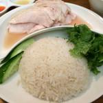 30355879 - ランチ(海南鶏飯チキン大盛り&パクチー増量)