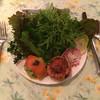 ペンションシルバーフォックス - 料理写真:前菜:タマネギとベーコンのキッシュ/アボカドサーモン