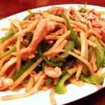 中国料理 水晶楼 - 青椒(牛)肉絲