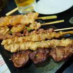 肉貴族 - 料理写真:串盛り合せ(鶏)