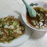 徐州楼 - 2014.09再訪 焼そばはスープ付き!