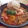 ヒラソル - 料理写真:今日のお昼はパエリア〜。量的にも内容的にもちとお上品すぎるかなぁ。