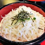 光庵 - 「三味うーめん(麺大盛り)」の麺