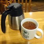 カウカウ カフェ - 朝食セットにプラスのコナコーヒーにミルク投入100円