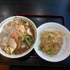 水蓮 - 料理写真:五目ラーメンとメニューには無い半炒飯