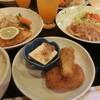 オレンジ - 料理写真:サケのみぞれと豚生姜焼き