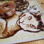 cica - クロワッサン・ドーナツ+チョコレート・ソースのえこだねこ1