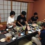 酒仙ひむか - スキークラブの懇親会です。お任せコースで飲み放題税込み込み5000円の予算で、満腹満足満酒でした~!