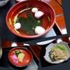 和風レストラン竹善 - 料理写真:肝吸い、冬瓜葛煮、お新香付き