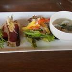 Cafe Restaurant Comodo - ランチ(サラダ、スープ、カルパッチョ)