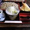 萩田 そば店 - 料理写真:天ざる大盛り1150円