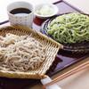 蕎麦遊膳 初花 - 料理写真:熊笹そばともりそばのあいもりそば