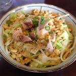蓮 - まぜ麺1.5玉盛温玉のせ