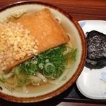阿倍野庵 - H.26.6.7.昼 きつねうどん+おにぎり梅=420円