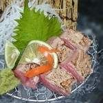 和風レストラン はっかく亭 - 本マグロのツノトロの刺身をあぶりで!!